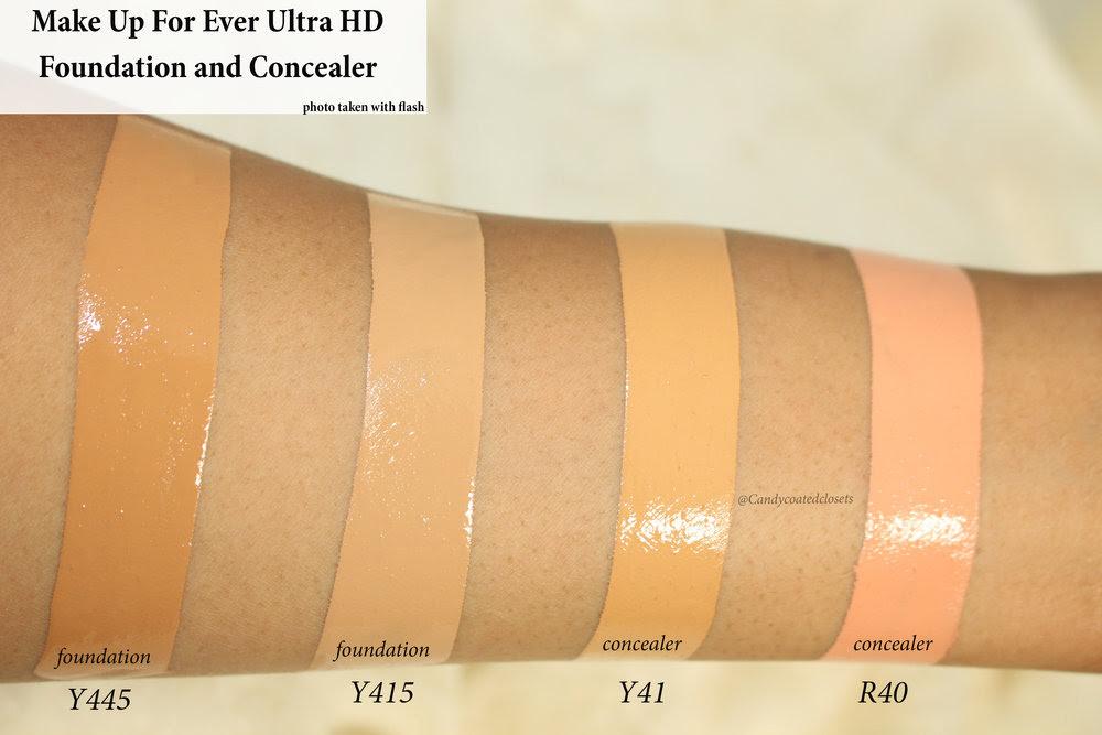 Make up for ever ultra hd foundation palette