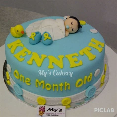 jual baby boy  month  cakes mys cakery tokopedia