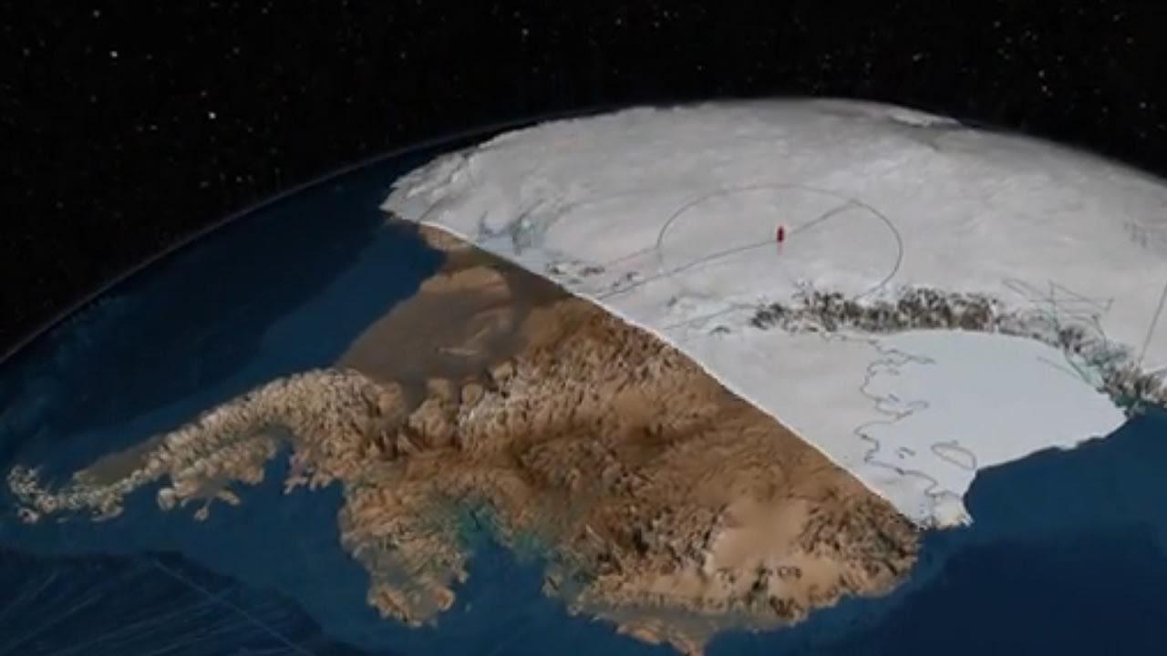 Gigantescas formaciones terrestres han sido descubiertas bajo el hielo de la Antártida