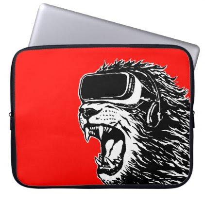 VR Lion Laptop Sleeve