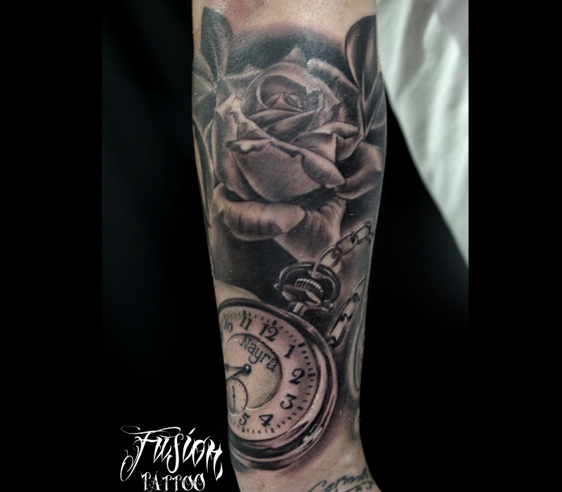 Reloj De Bolsillo Y Rosa