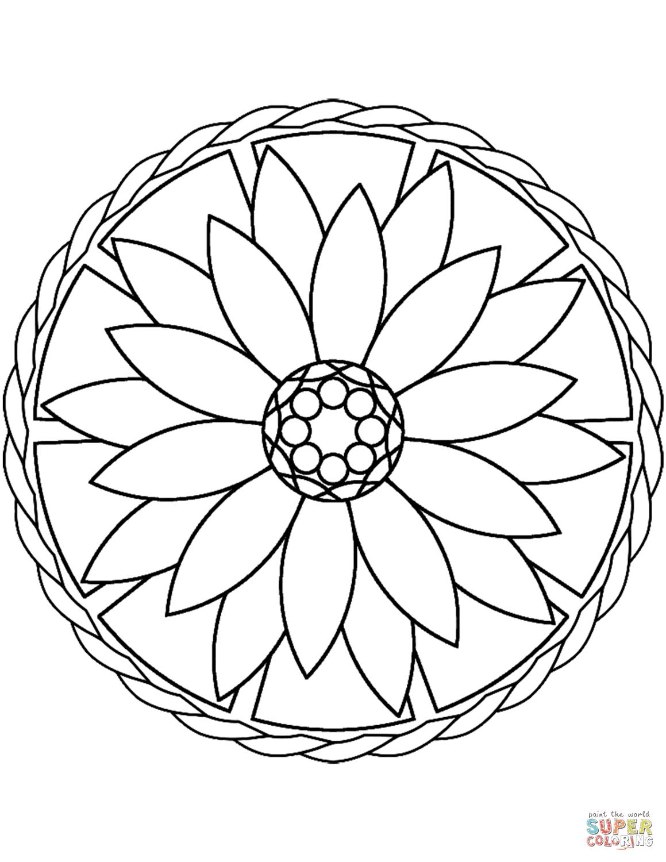 Easy Mandala Drawing at GetDrawings | Free download