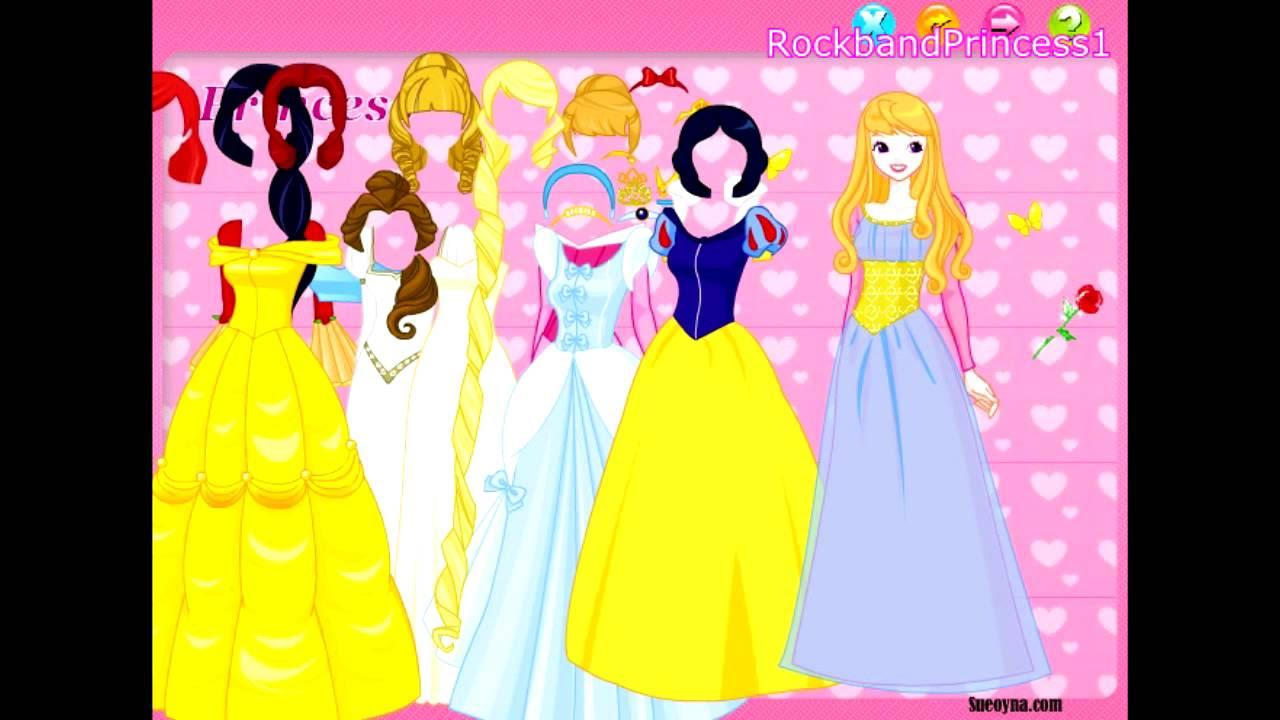 Disney Games Disney Princess Dress Up Game - YouTube
