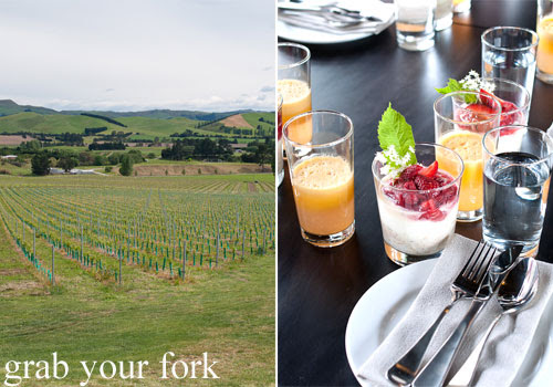 brunch at black estate vineyard waipara wine valley