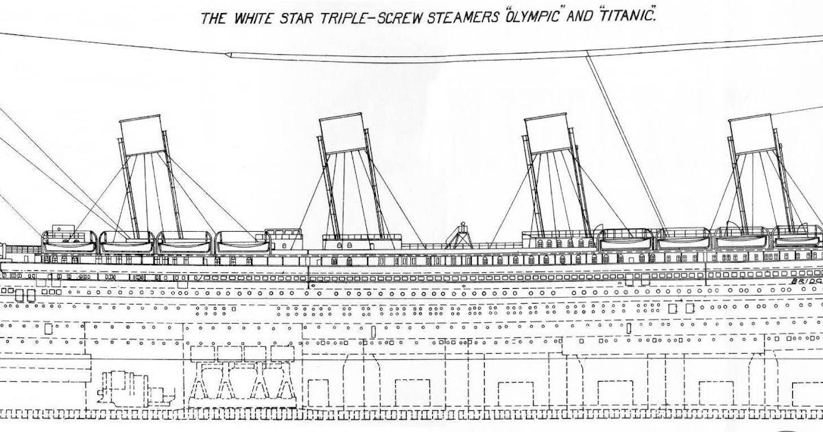 Titanic histoires normales et paranormales d 39 un navire de l gende les plans - Dessin du titanic ...
