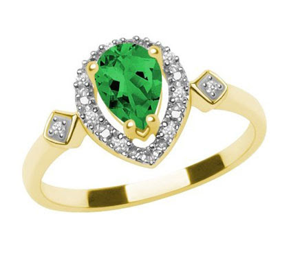 Labcreated Emerald Ring