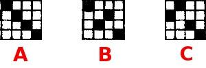 3 different tabby threading blocks.