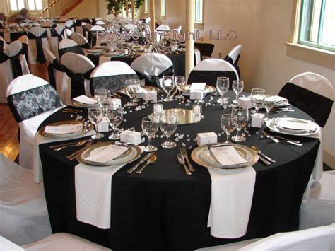 56 Black And Silver Table Settings, Black And Silver Table