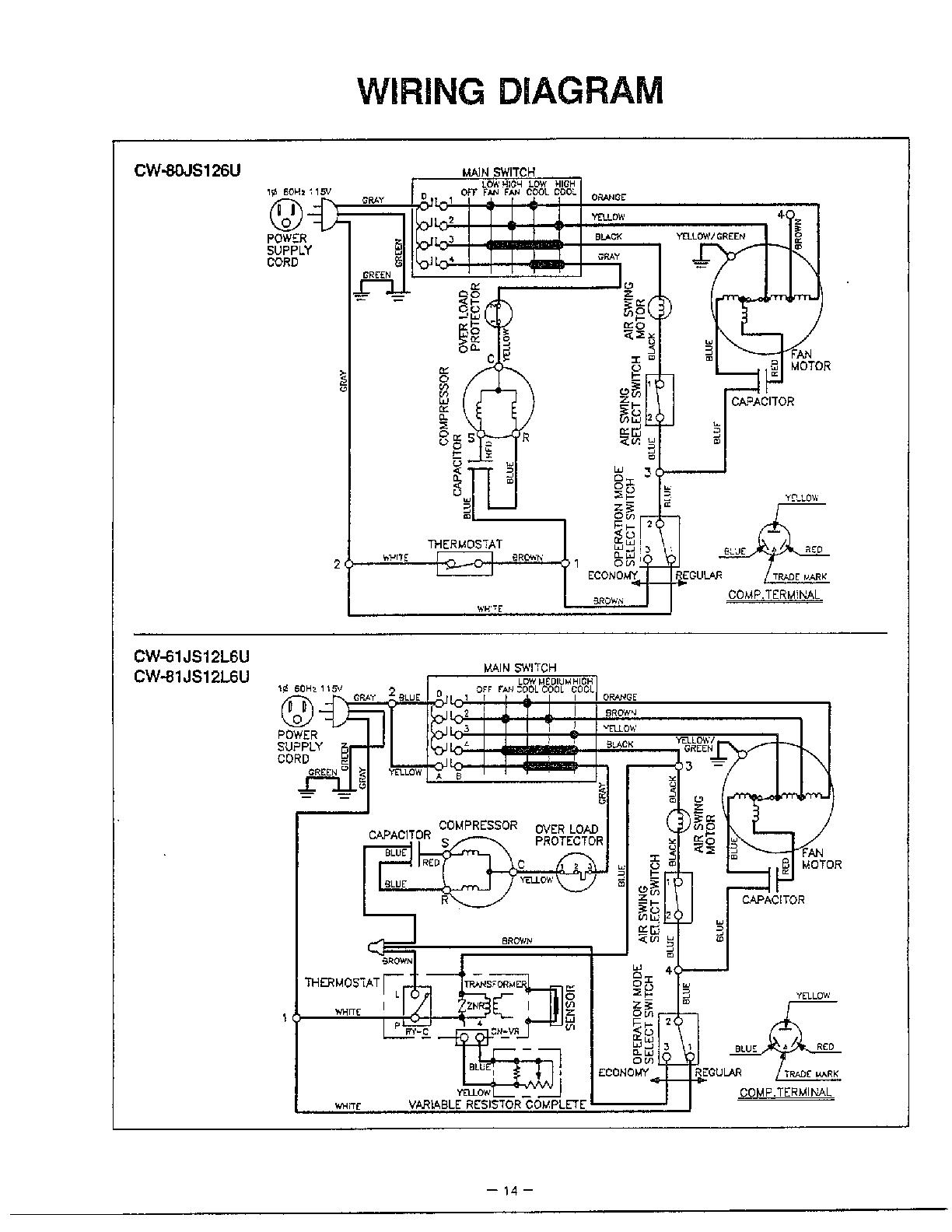 Rv Air Conditioner Wiring Diagram