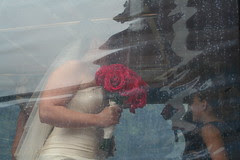 Bride and Roses in the Rain