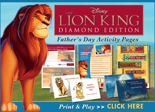 disney happy father u0026 39 s day on behalf of the lion king
