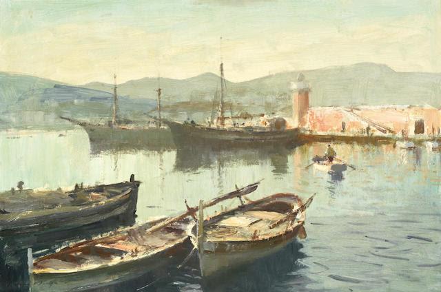 Edward Seago, RWS (British, 1910-1974) 'Evening, Ponza'