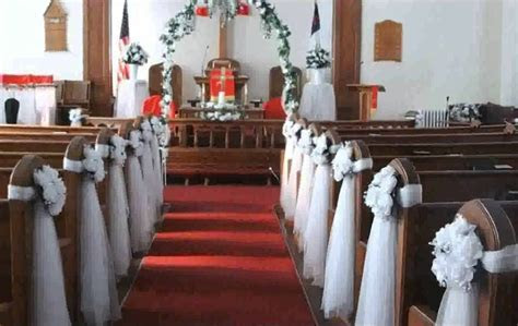 Ideas For Decorating Church Pews Wedding On Decorations