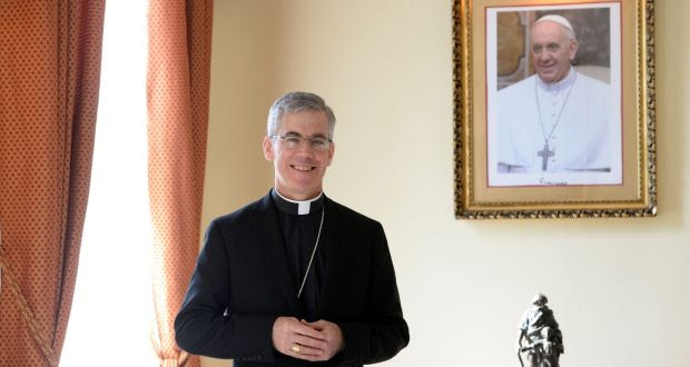Papal Nuncio Archbishop Charles Brown, who has completed his term in Ireland. Photograph: Eric Luke/The Irish Times