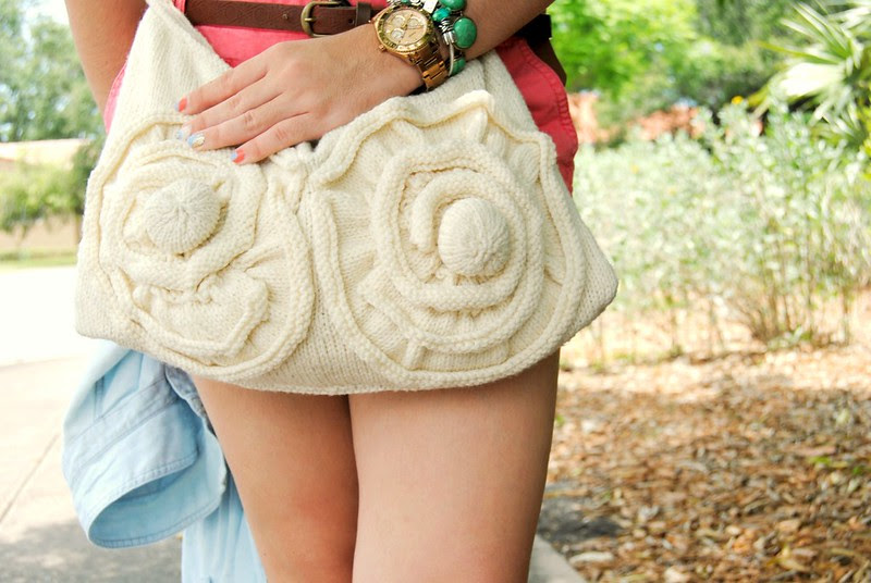 DIY knit and crochet bag