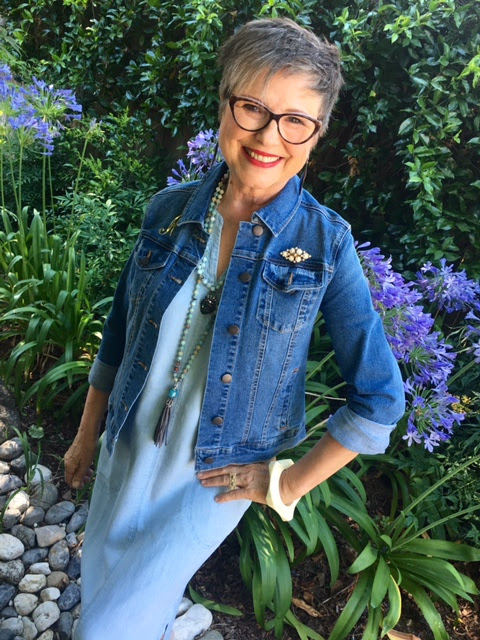 Wear a jean jacket for protection from air conditioning on BrendaKinsel.com