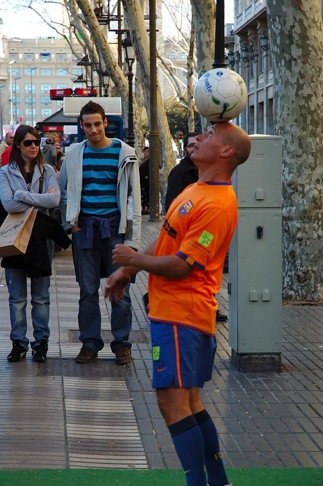 Tourists at Las Ramblas