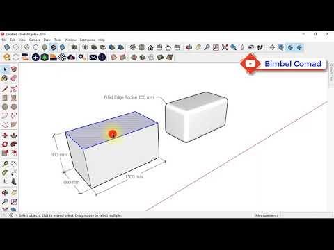Sketch Up - Jurus Fillet Edge 3D (tanpa plugin)