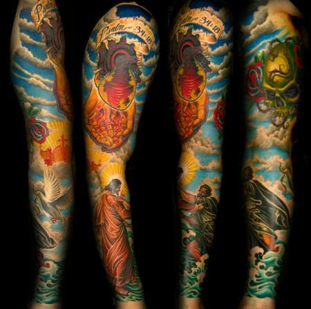 Religious Sleeve Tattoo Design Of Tattoosdesign Of Tattoos