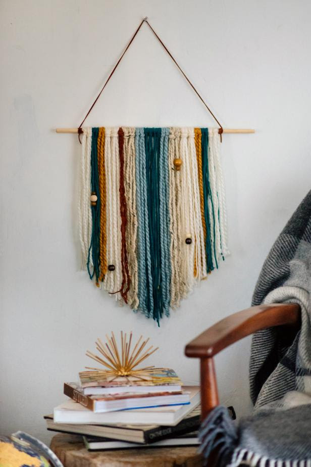 How to Make an Easy  DIY  Yarn Wall Hanging HGTV