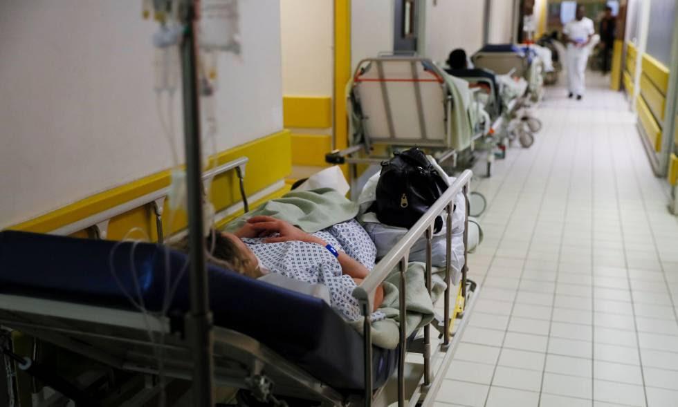 Hospital de Villeneuve-Saint-Georges, en París, el pasado miércoles.