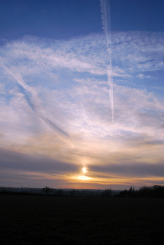 Sunset over Suffolk