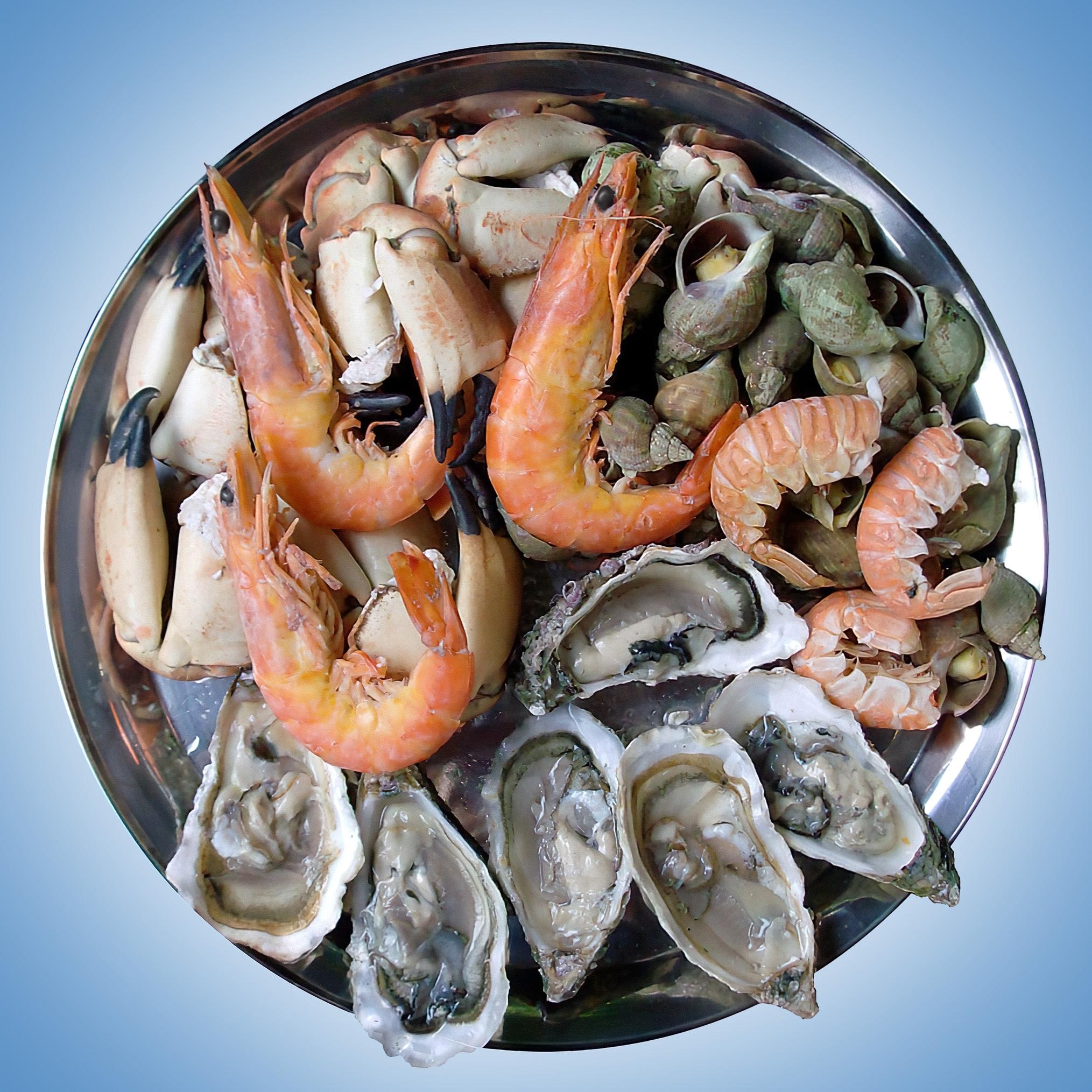 Plateau of seafood, image from Wikimedia