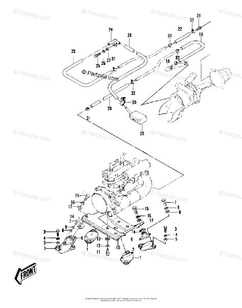 Kawasaki Jet Ski 1981 OEM Parts Diagram for ENGINE MOUNT