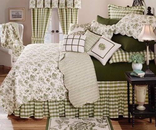 C Amp F Enterprises Devon Moss Quilt Set French Country
