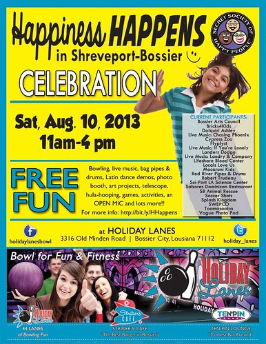 Happiness @ Holiday Lanes, Bossier, on Sat, Aug 10 by trudeau