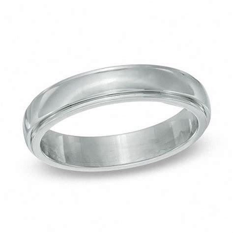 Men's 5mm Stainless Steel Wedding Ring   Size 12   Mens