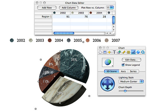 3D chart in keynote