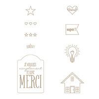 Eurêka Clear Stamp Set (French)