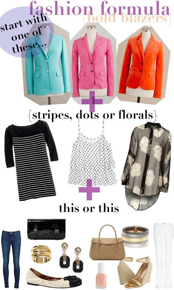 Fashion Formula: How to Wear Bright Blazers!