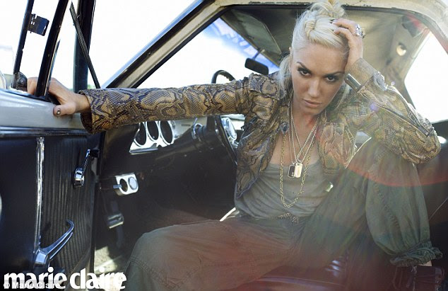 Snake hips: Gwen Stefani is fierce on the cover of the October issue of Marie Claire