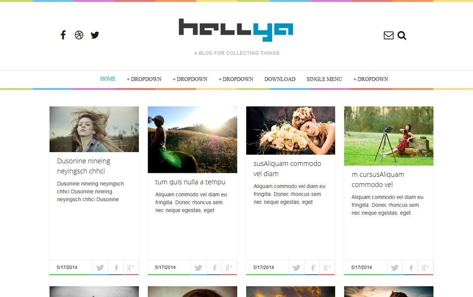 Hellya Responsive Personal Blog Blogger Template