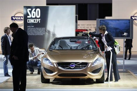 Volvo S60 Concept Car. The Volvo S60 Concept car is showcased at the Los Angeles Auto Show in Los