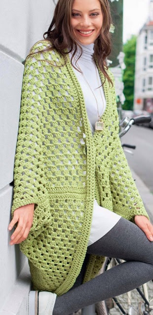Beautiful crochet cardigan