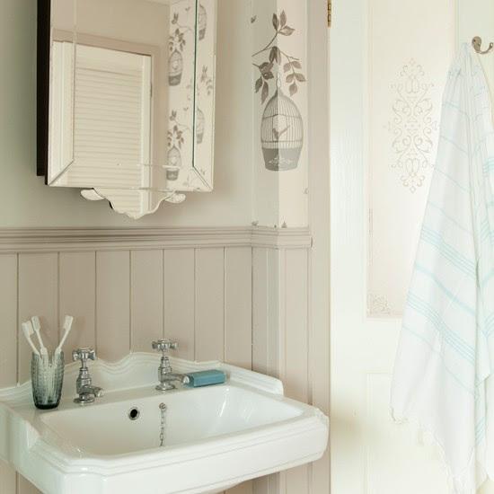 Neutral Art Deco bathroom | Bathroom decorating ideas | Ideal Home | Housetohome.co.uk