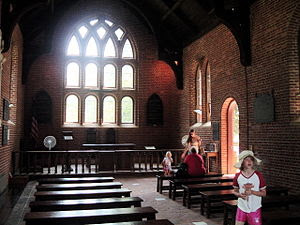 The Inside of the current Jamestown Church, up...