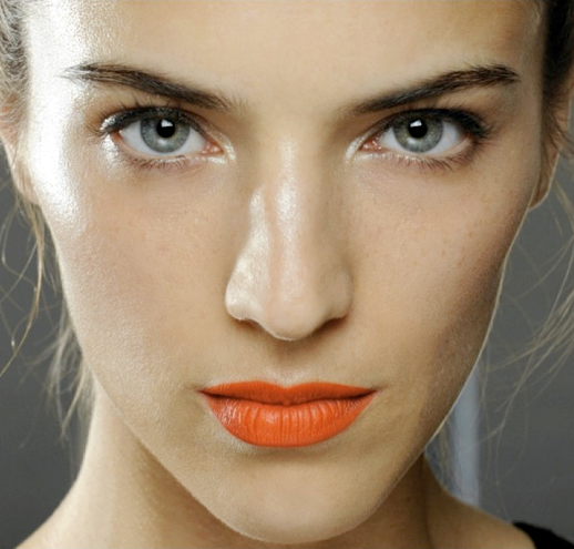 LE FASHION BLOG BEAUTY ORANGE LIPS JASON WU SS 2012 CLEAN NATURAL SKIN 3 photo LEFASHIONBLOGBEAUTYORANGELIPSJASONWUSS20123.png