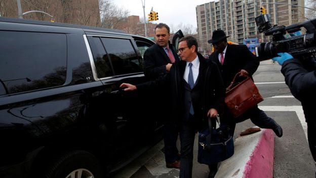 Adriano Juca, director legal de Odebrecht, a la salida de un tribunal en Nueva York