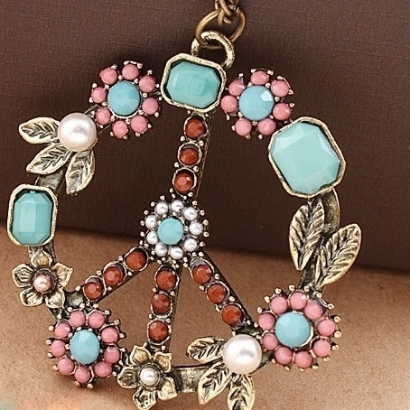 Peace sign pendant!  I love this!