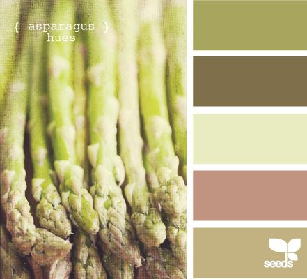 Asparagus Hues - http://design-seeds.com/index.php/home/entry/asparagus-hues2
