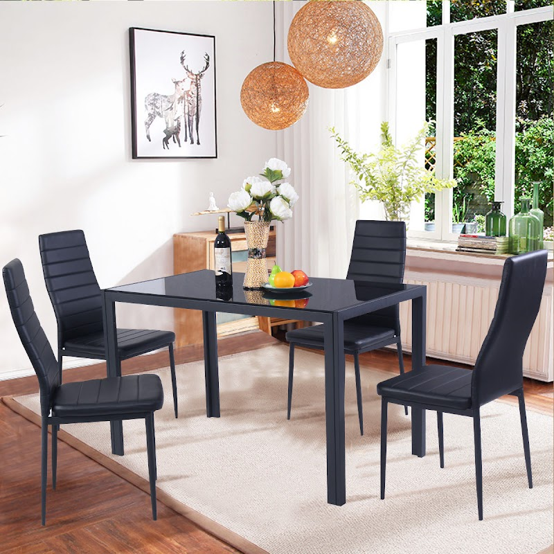 Awesome Black Dining Room Table Sets Photos