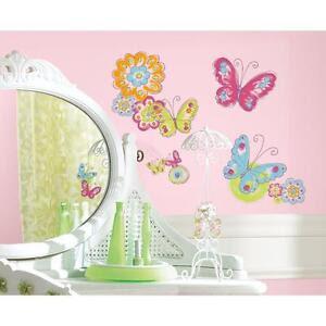 Girls Room Decor Butterfly   eBay