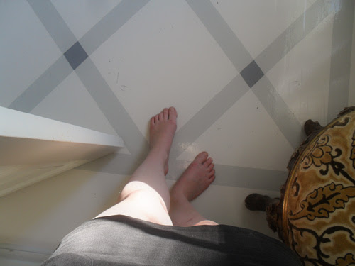 feet and floor