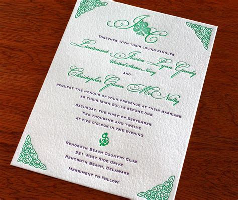 New Celtic Seaside Wedding Invitation: Teagan