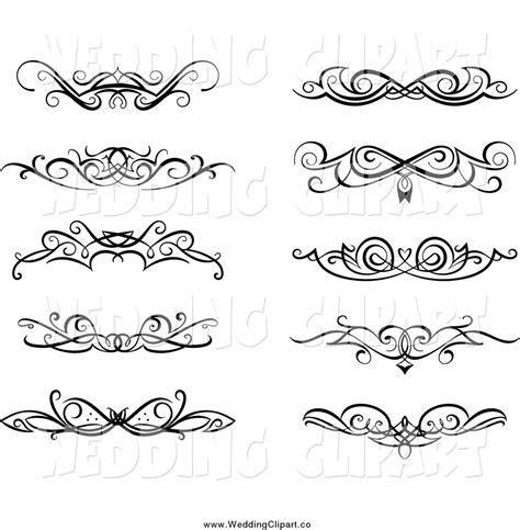 Royalty Free Stock Wedding Designs of Headers