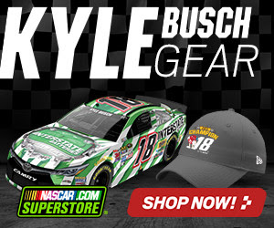 Show your support for Kyle Busch with fan gear from Store.NASCAR.com